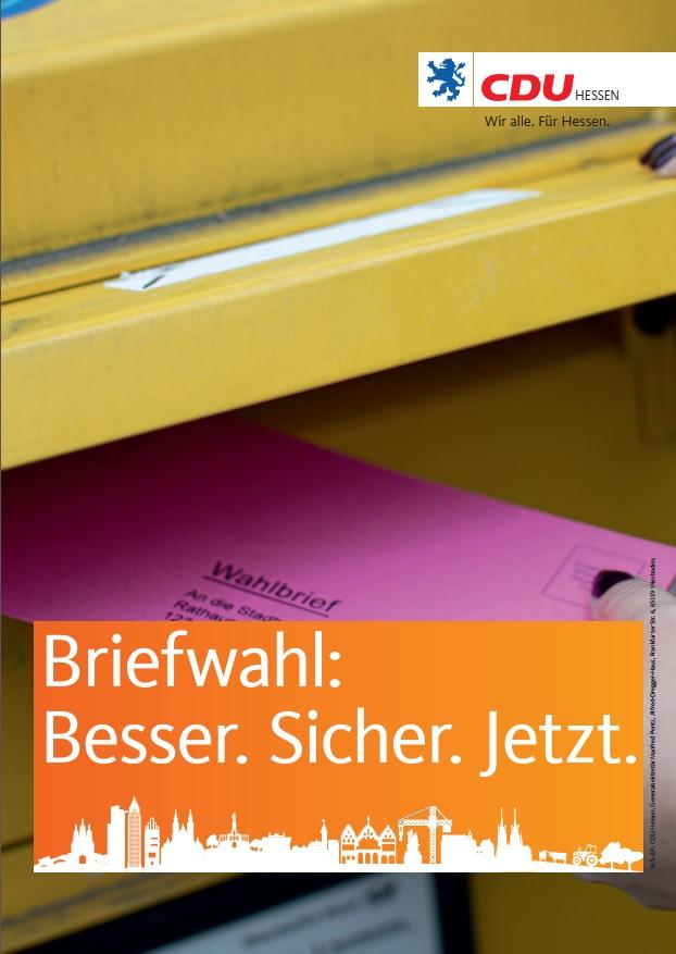 Briefwahl-Plakat