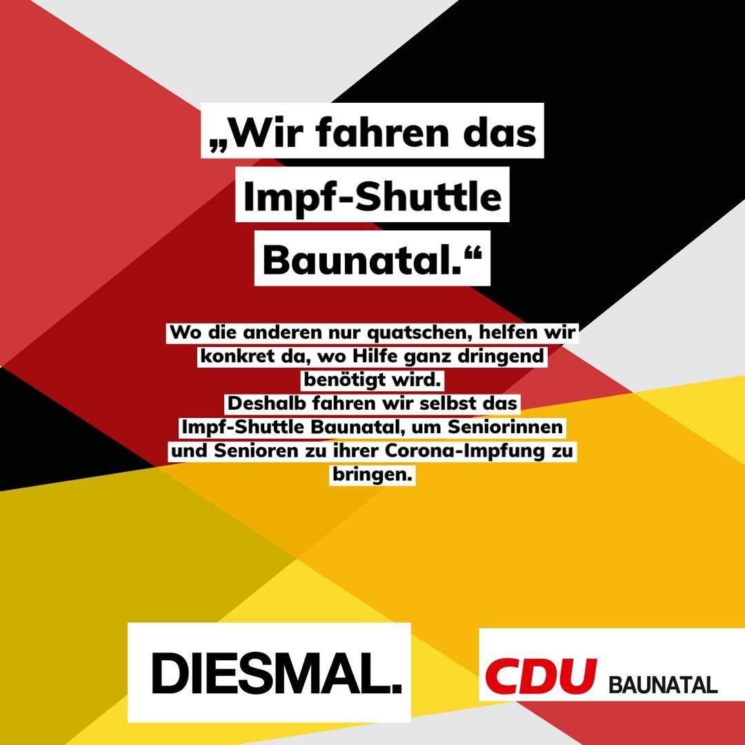 Impf-Shuttle der CDU Baunatal – jetzt in Eigenregie.